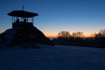 Kandelturm kurz vor Sonnenaufgang