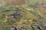 erst aus der Luft sieht man die unendlich vielen kleinen Schmelzwasserbäche im Fjell