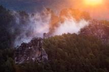 Sonnenaufgang an der Bastei